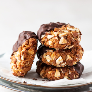 vegan almond cookies stack