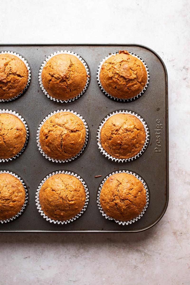 vegan carrot cupcakes baked