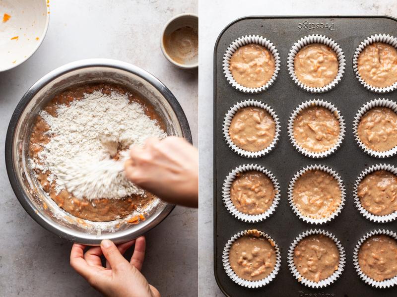 vegan carrot cupcakes batter