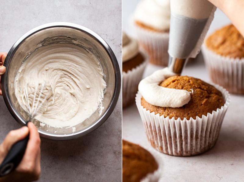 vegan carrot cupcakes icing