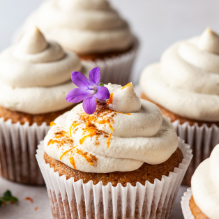 vegan carrot cupcakes many