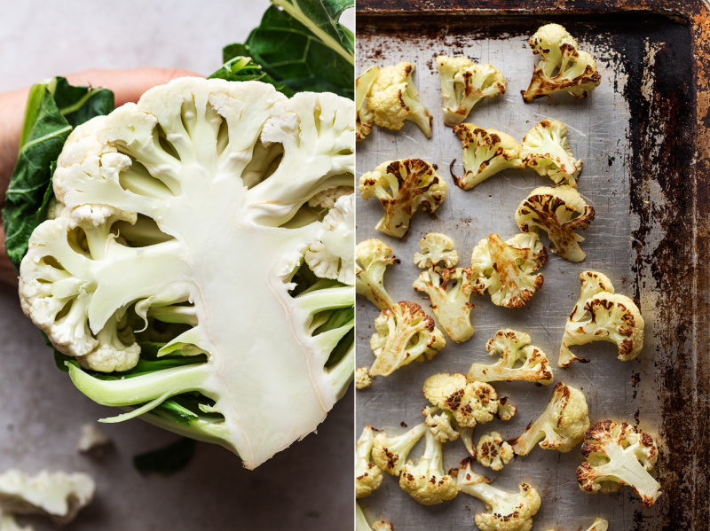 vegan cauliflower mash roasted cauliflower