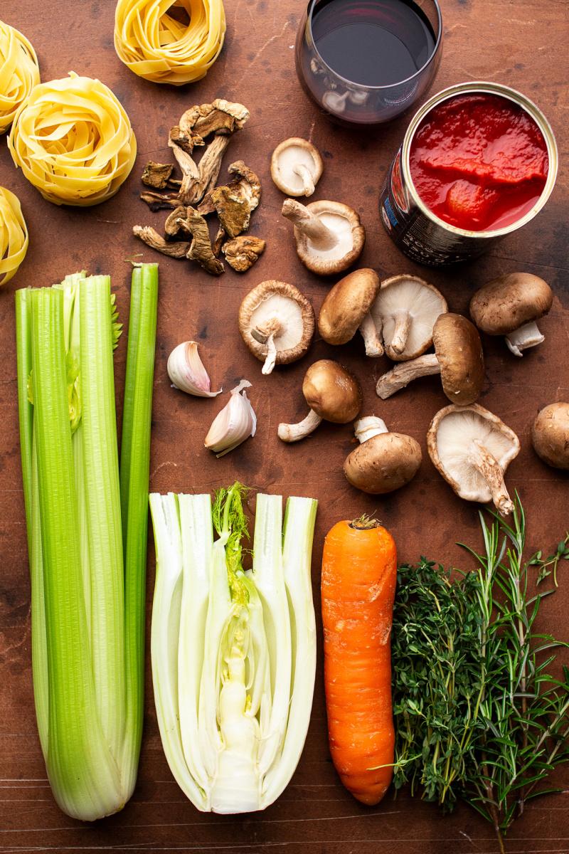 mushroom bolognese ingredients