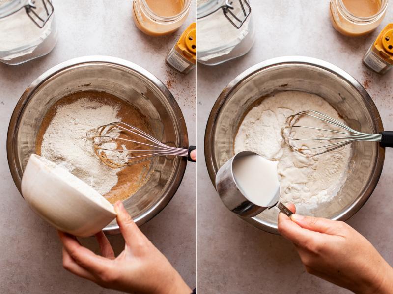 vegan apple pancakes batter