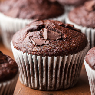 vegan chocolate banana bread muffins macro