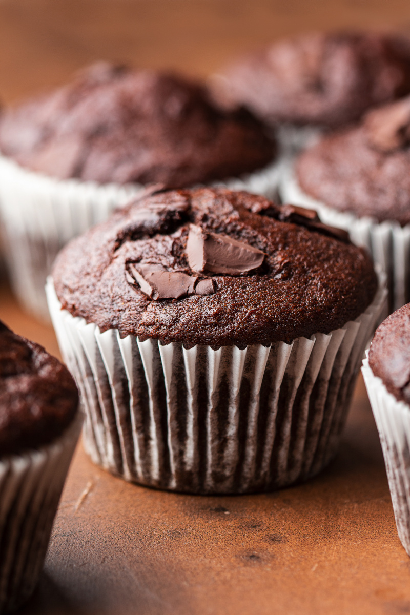 Vegan Chocolate Banana Bread Muffins Lazy Cat Kitchen