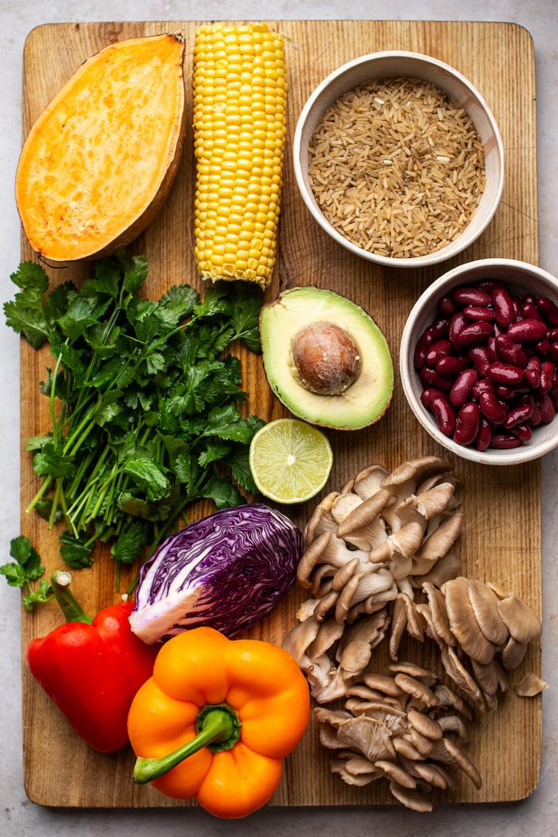 vegan fajita bowls ingredients