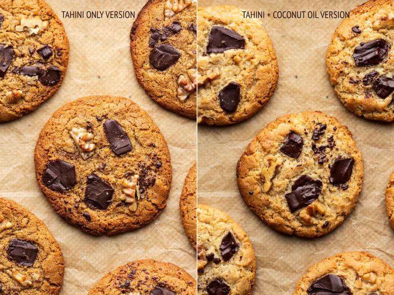 vegan flourless tahini cookies versions