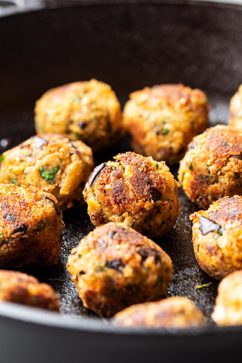vegan meatball platter fried