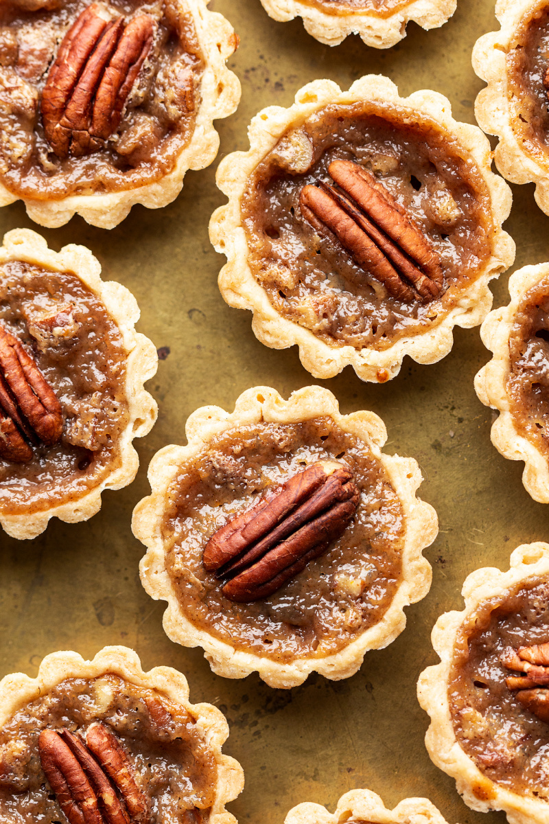 mini pecan pies close