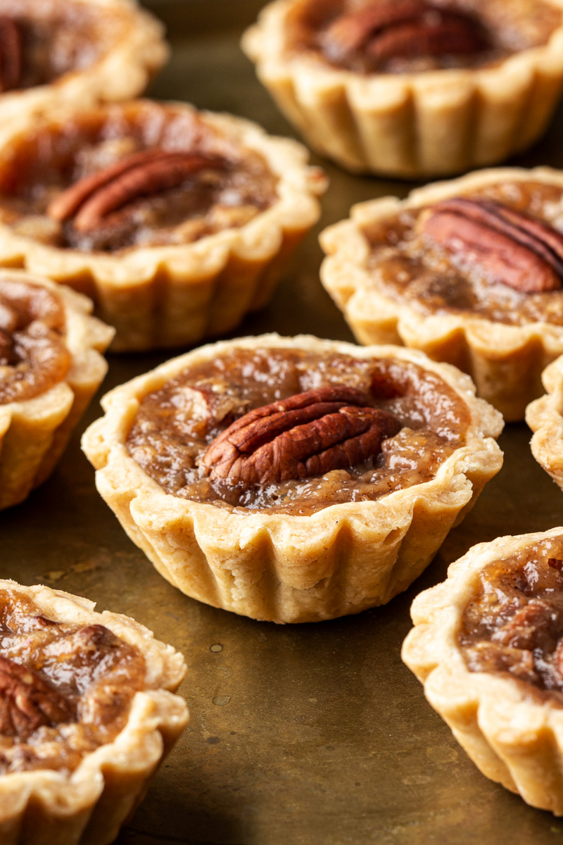 mini pecan pies side