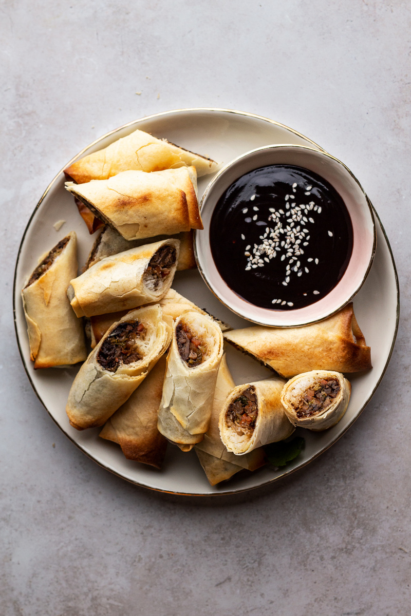 baked vegan spring rolls