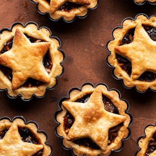 vegan mince pies baked