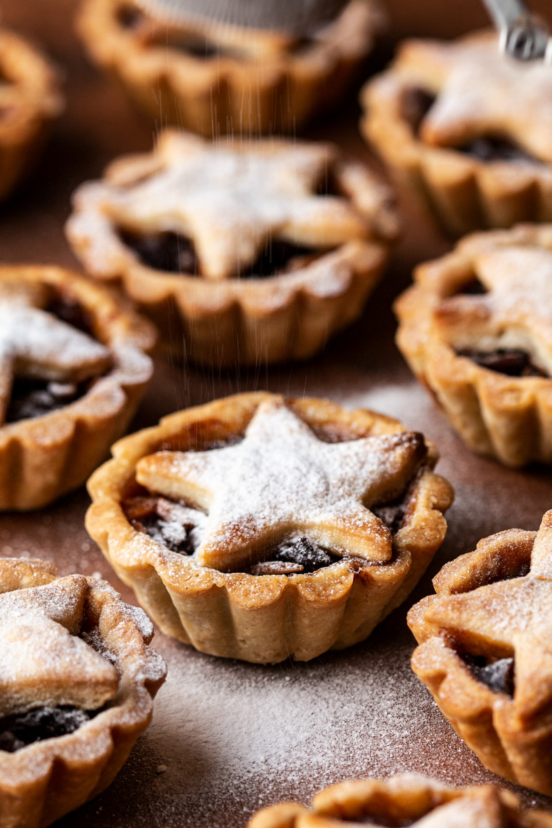 vegan mince pies side