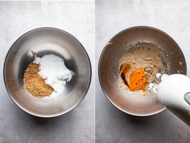 vegan snickerdoodles making of