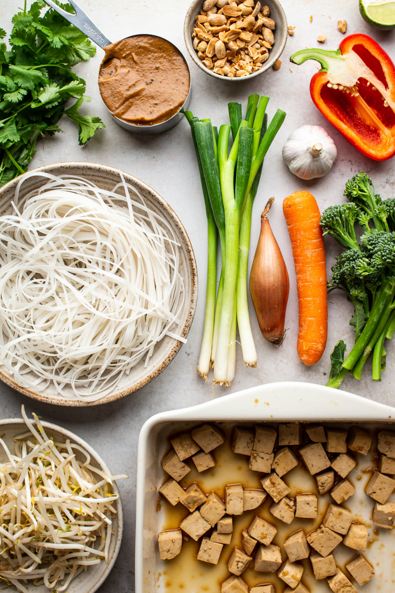 healthier vegan pad thai ingredients