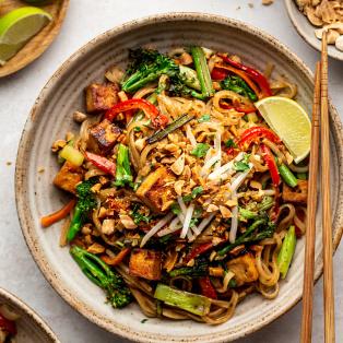 healthier vegan pad thai macro