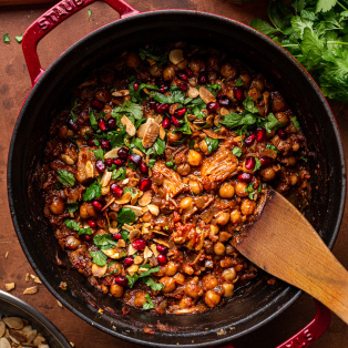 vegan jackfruit tagine