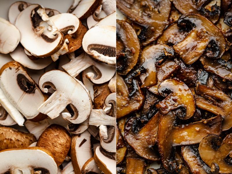 vegan miso mushroom pasta mushroom