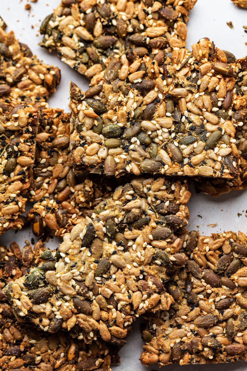 vegan multiseed crackers