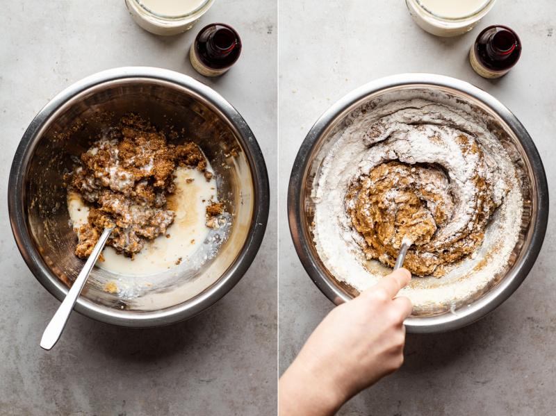 vegan peanut butter cookies batter