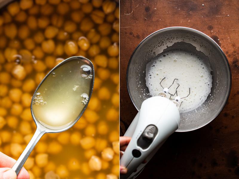 mudah brownies aquafaba tanpa telur sebelum
