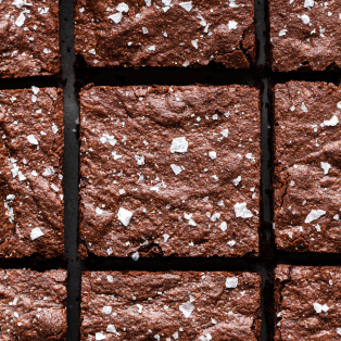 easy eggless brownies cut