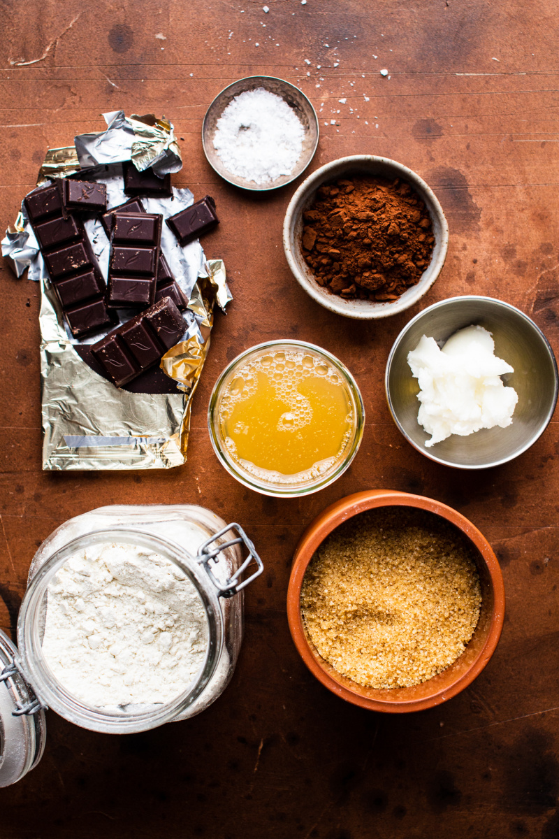 easy eggless brownies ingredients