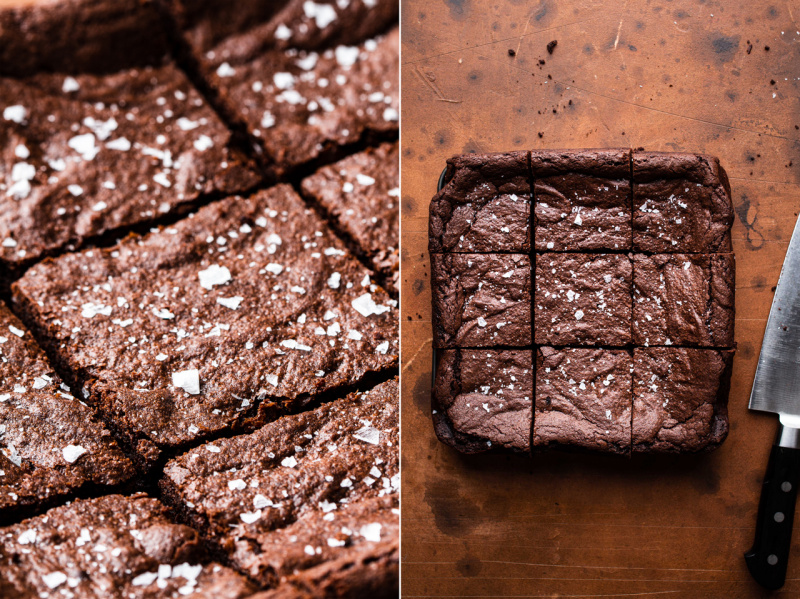 easy eggless brownies whole cut