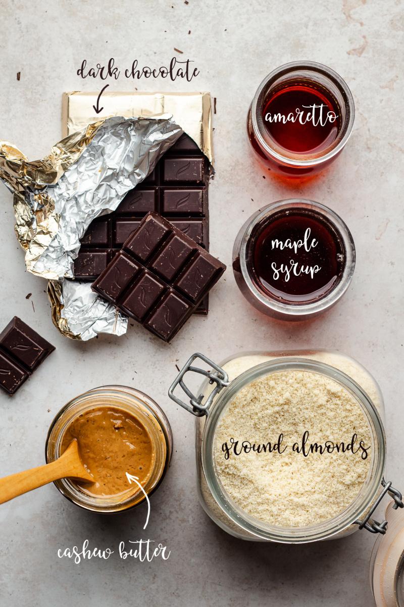 vegan marzipan truffles 5 ingredients