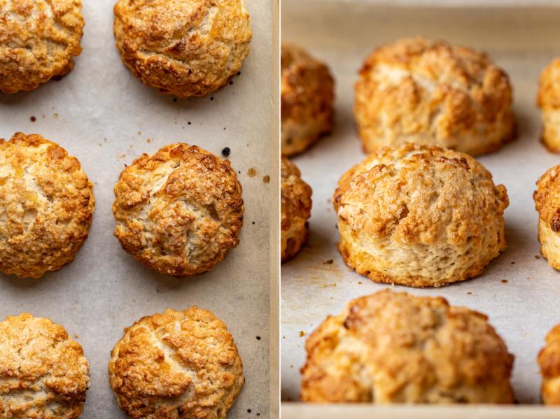 ginger vegan scones baked