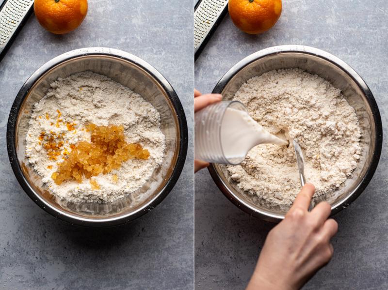 ginger vegan scones dough