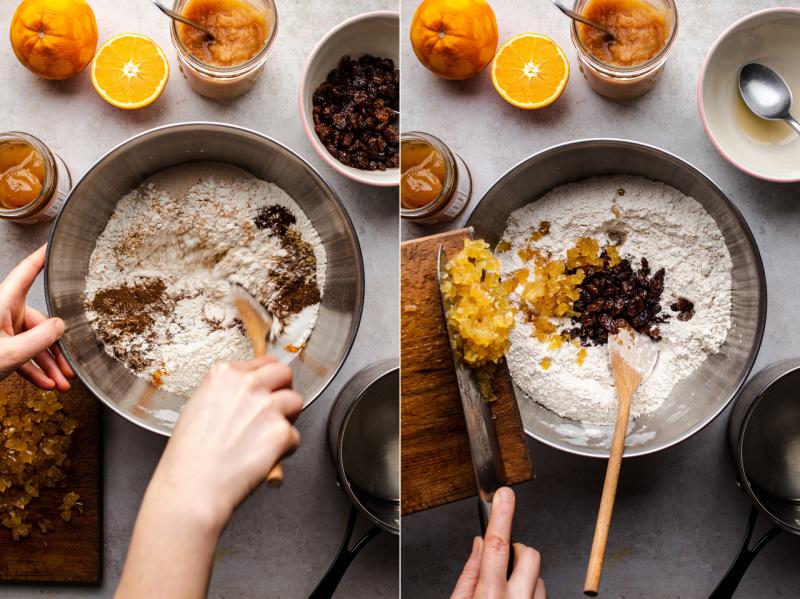 vegan hot X buns dry ingredients