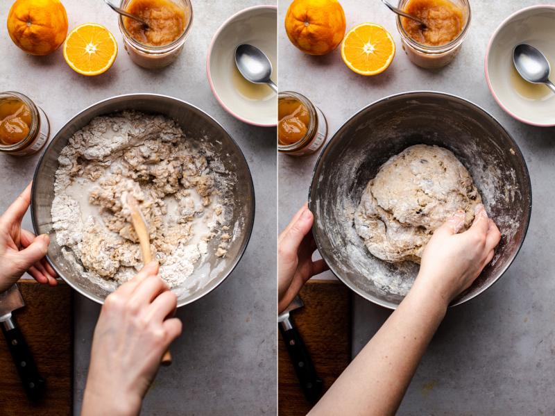 vegan hot X buns wet ingredients