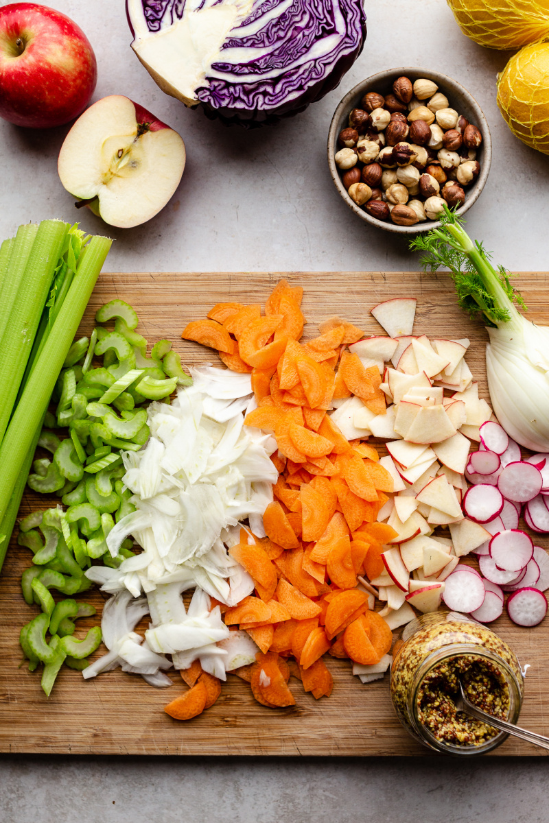 vegan slaw chopped ingredients