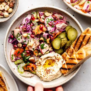 vegan slaw lunch