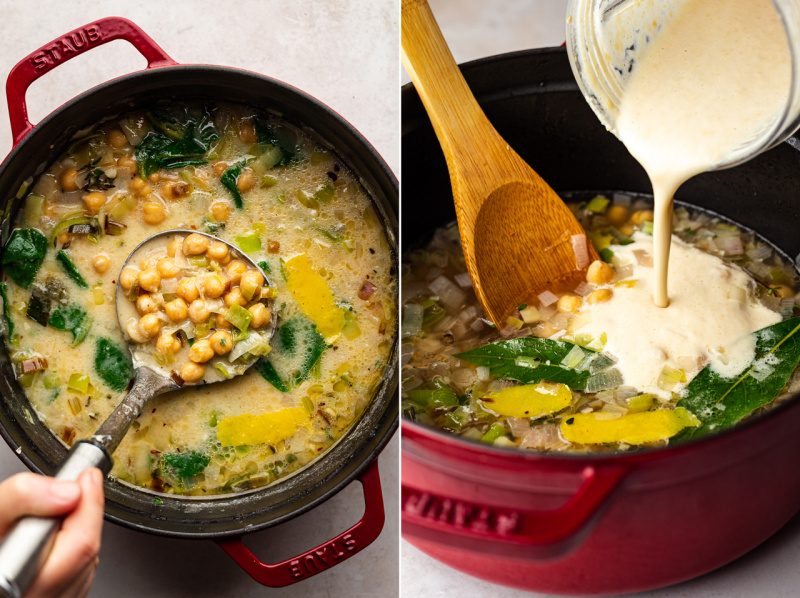 greek-inspired chickpea stew thickened