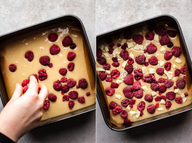 vegan blondies before baking
