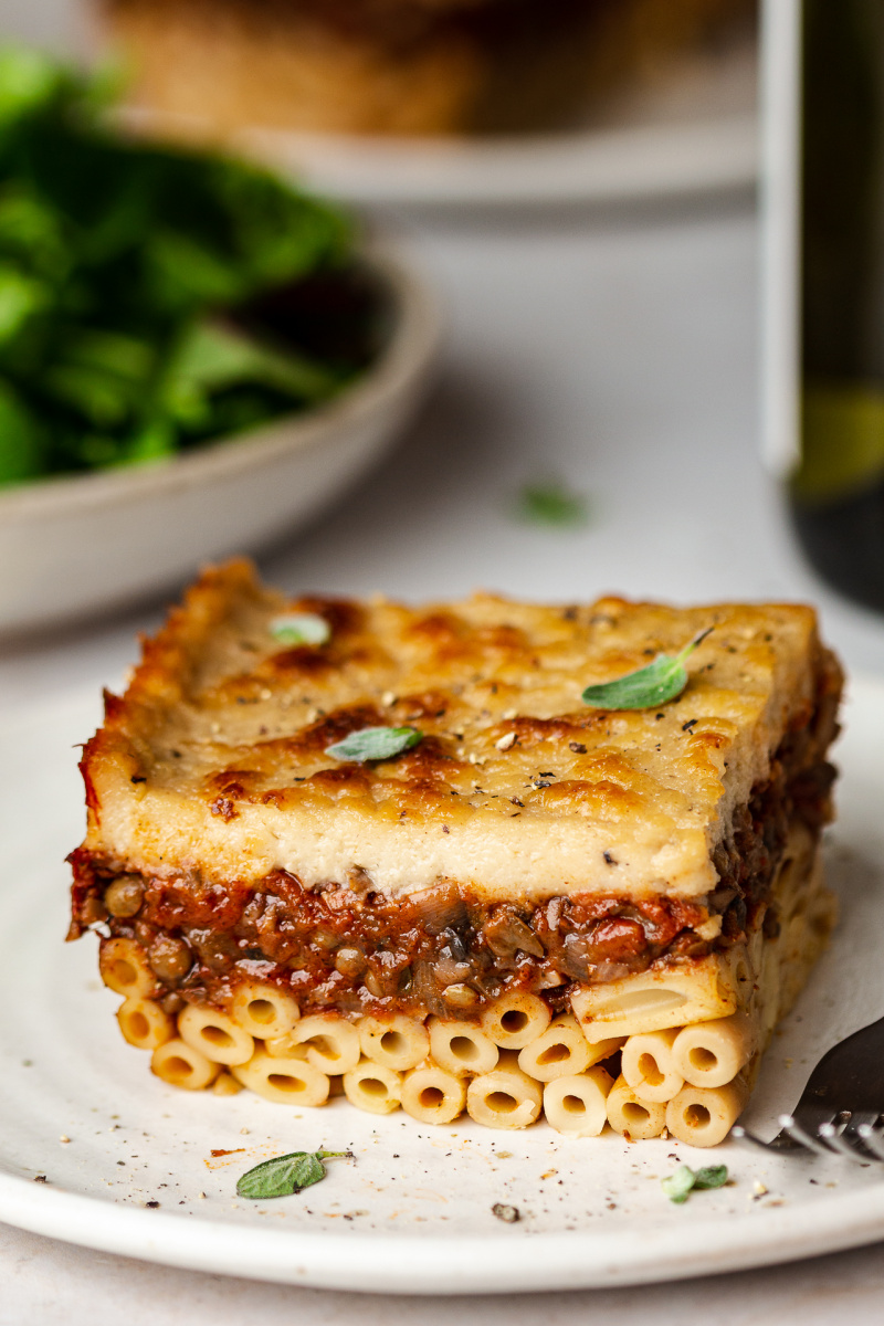 vegan pastitsio piece