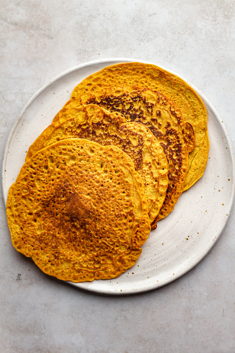 red lentil pancakes cooked