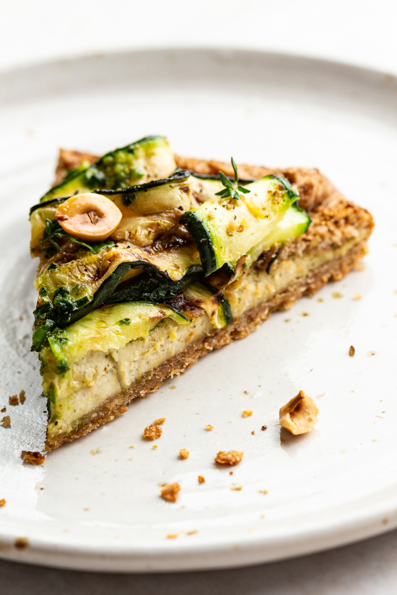 vegan zucchini galette portion