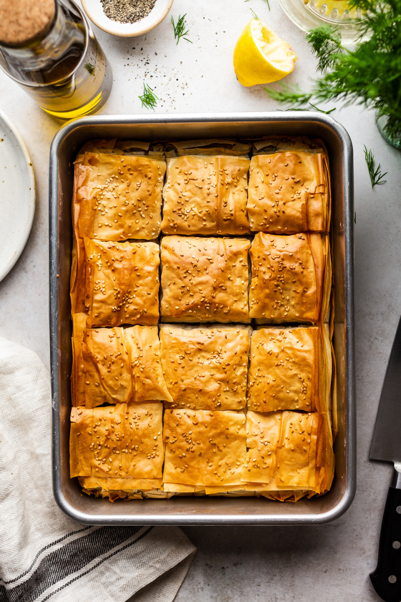 easy vegan spanakopita