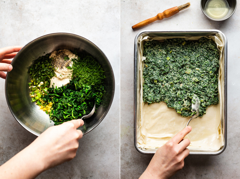 easy vegan spanakopita filling