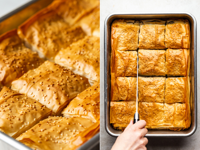 easy vegan spanakopita side top down 2