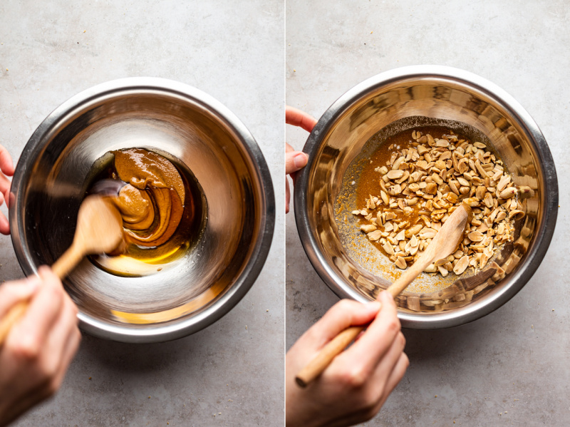 vegan peanut brittle making