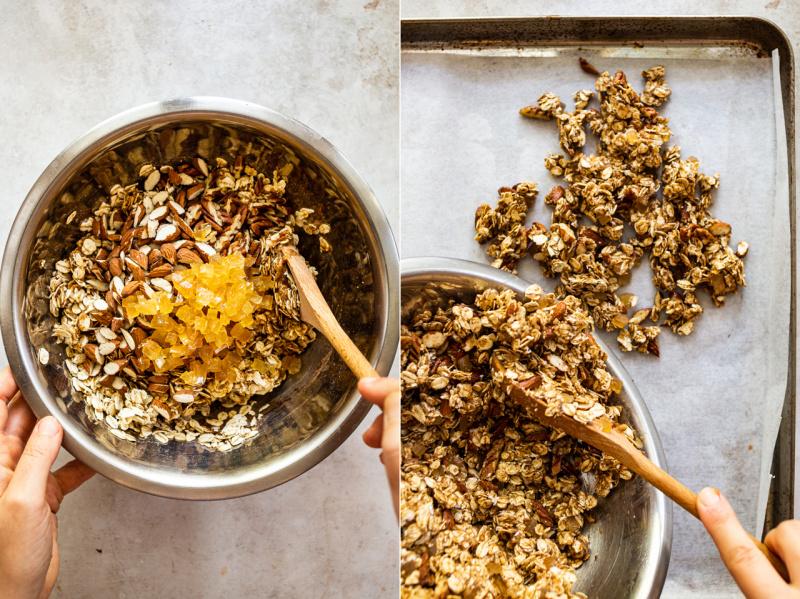 pengolesan granola sehat