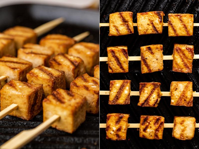 teriyaki tofu noodle salad tofu