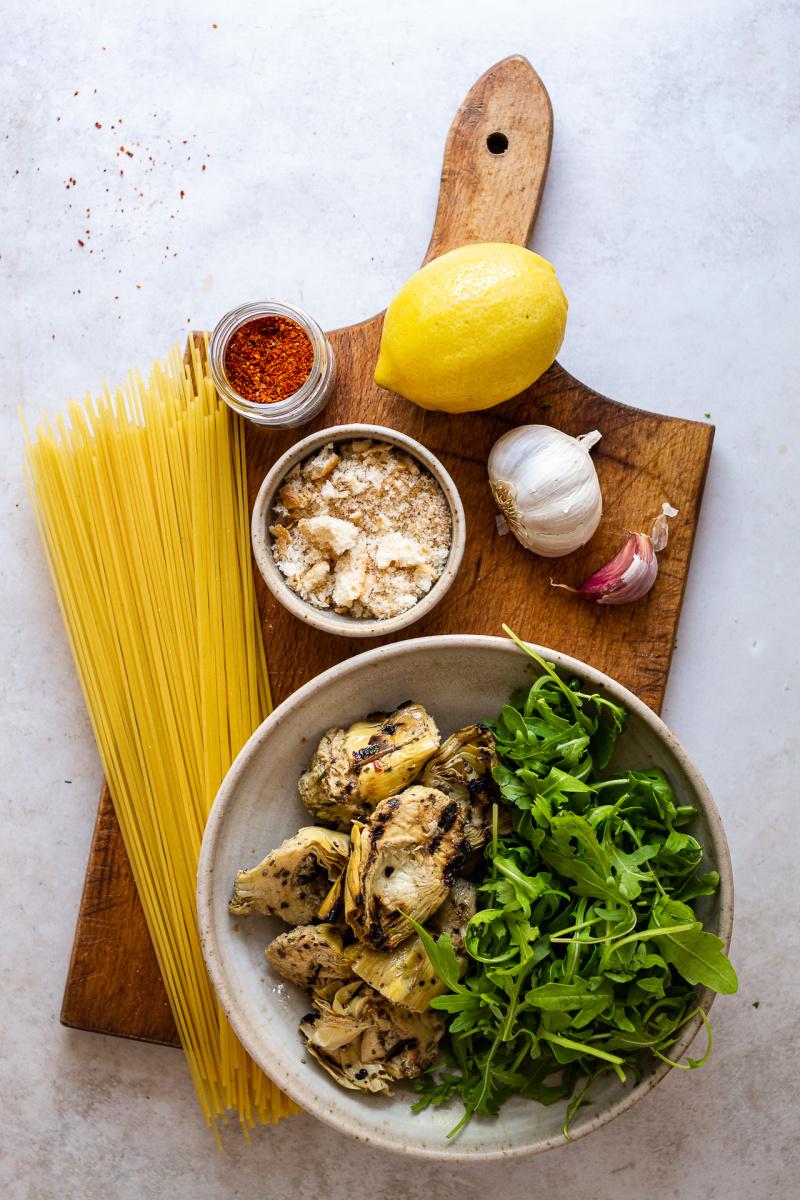 vegan artichoke pasta ingredients