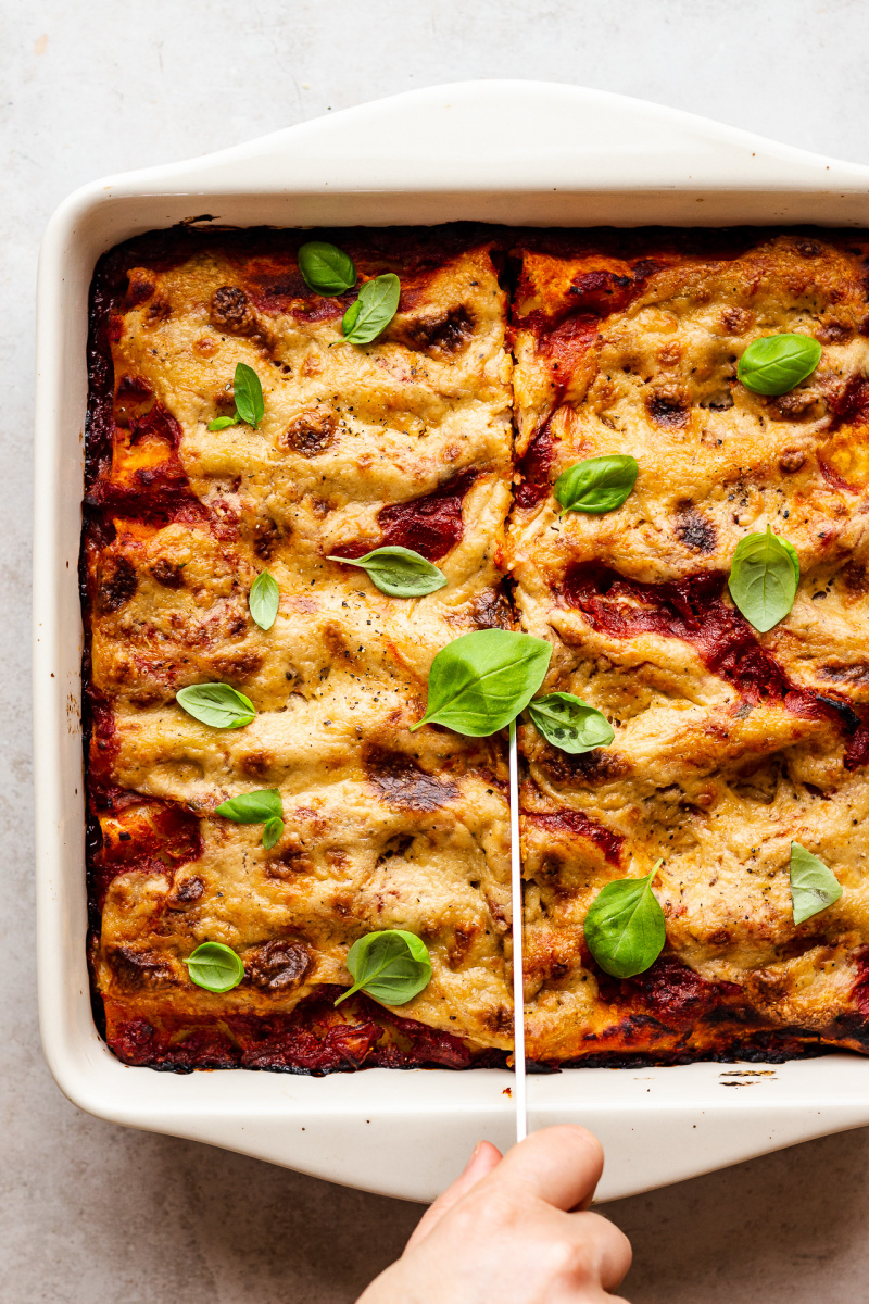 vegan cannelloni knife