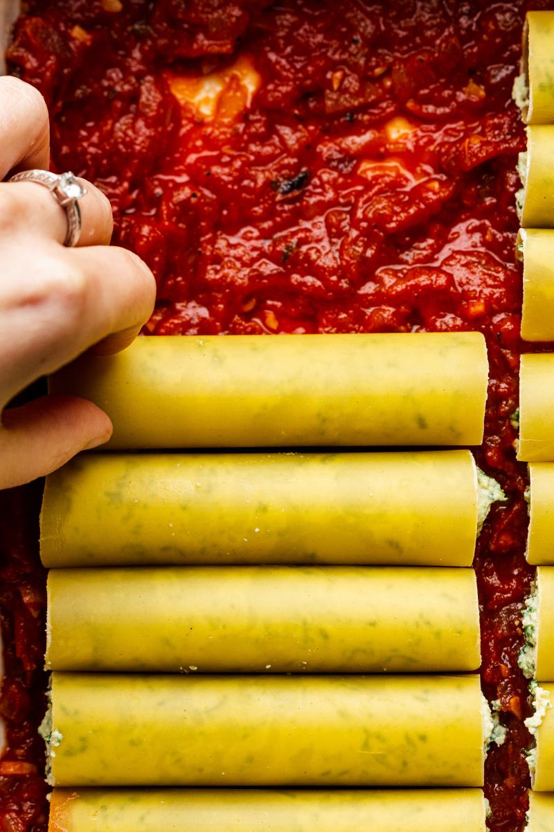 vegan cannelloni tray